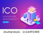 ico cryptocurrency vector... | Shutterstock .eps vector #1116492485