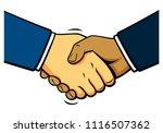 comics shake hands  vector | Shutterstock .eps vector #1116507362