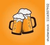 beer mug vector illustration... | Shutterstock .eps vector #1116507932