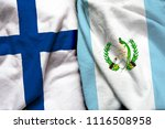 finland and guatemala flag on...   Shutterstock . vector #1116508958
