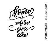"lettering poster ""home is where ...   Shutterstock .eps vector #1116510005"
