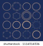 set of vector graphic circle... | Shutterstock .eps vector #1116516536