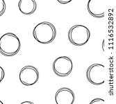 hand drawn scribble circles...   Shutterstock .eps vector #1116532892