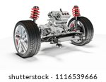 3d car chassis with motor and...   Shutterstock . vector #1116539666