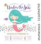 kids birthday party invitation... | Shutterstock .eps vector #1116544745