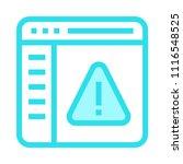 warning vector icon | Shutterstock .eps vector #1116548525