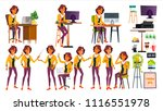 office worker vector. woman.... | Shutterstock .eps vector #1116551978