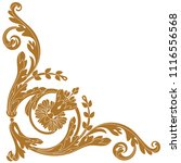 golden vintage baroque ornament ... | Shutterstock .eps vector #1116556568