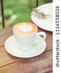 hot coffee with sweet cake... | Shutterstock . vector #1116558026