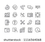 editable simple line stroke... | Shutterstock .eps vector #1116564068