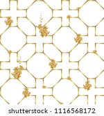 chinese pattern vector. gold... | Shutterstock .eps vector #1116568172