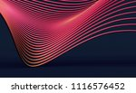 abstract 3d rendering of smooth ... | Shutterstock . vector #1116576452