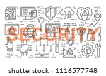 line style internet security...   Shutterstock . vector #1116577748