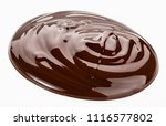 melted chocolate. isolated on... | Shutterstock . vector #1116577802