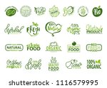 natural bio and organic food... | Shutterstock .eps vector #1116579995
