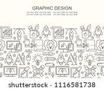 graphic design seamless pattern ... | Shutterstock . vector #1116581738