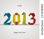 New 2013 Year Greeting Card...