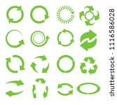 green round recycle design... | Shutterstock . vector #1116586028