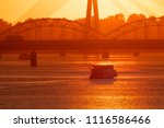 beautiful view of fiery red... | Shutterstock . vector #1116586466
