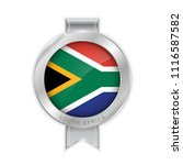 flag of south africa silver... | Shutterstock .eps vector #1116587582