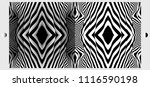 pattern with optical illusion.... | Shutterstock .eps vector #1116590198