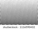 black and white halftone... | Shutterstock .eps vector #1116590432