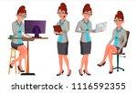 office worker vector. woman.... | Shutterstock .eps vector #1116592355