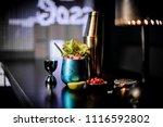 beautiful blue cocktail glass... | Shutterstock . vector #1116592802