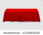 table with tablecloth red on a... | Shutterstock .eps vector #1116593318