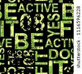 sport abstract seamless pattern ... | Shutterstock .eps vector #1116596228