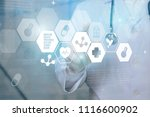 doctor  surgeon analyzing... | Shutterstock . vector #1116600902
