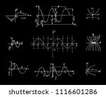 set with the parabola graphs...   Shutterstock .eps vector #1116601286