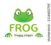 fun frog cartoon logo template... | Shutterstock .eps vector #1116602705