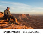 hiker meets sunset at grand... | Shutterstock . vector #1116602858