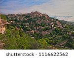 gordes  vaucluse  provence ... | Shutterstock . vector #1116622562