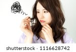 young woman who be troubled by... | Shutterstock . vector #1116628742
