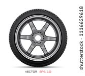 aluminum wheel car tire style... | Shutterstock .eps vector #1116629618