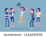 female winner and envious...   Shutterstock .eps vector #1116634928