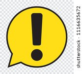 exclamation mark in yellow... | Shutterstock .eps vector #1116635672