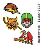 sports mascot icon illustration ... | Shutterstock .eps vector #1116649325