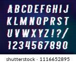 distorted glitch font. vector... | Shutterstock .eps vector #1116652895