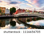 dublin  ireland. night view of... | Shutterstock . vector #1116656705