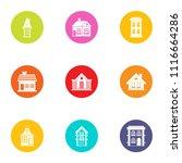 residence icons set. flat set... | Shutterstock .eps vector #1116664286