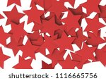 red stars pattern isolated on... | Shutterstock . vector #1116665756