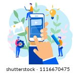concept mobile application... | Shutterstock .eps vector #1116670475