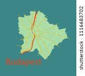 flat scheme of the budapest ... | Shutterstock .eps vector #1116683702
