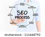businessman touching virtual... | Shutterstock . vector #111668792