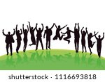 fun and jumping in the group | Shutterstock .eps vector #1116693818