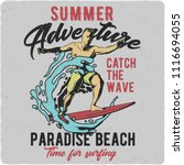 t shirt or poster design with... | Shutterstock .eps vector #1116694055