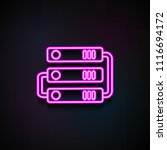 hard disk connection icon.... | Shutterstock .eps vector #1116694172